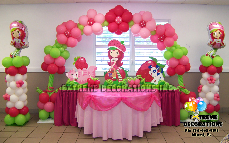 Balloon decorations birthday party party favors ideas for Bday decoration