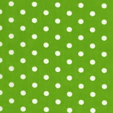 tablecloth rental miami - green polka dot linen