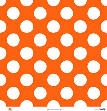 tablecloth rental miami - orange polka dot linen