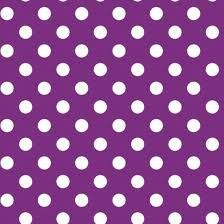 tablelcoth rental miami - purple polka dot linen