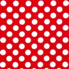 tablecloth rental miami - red polka dot linen