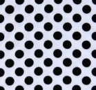 tablecloth rental miami - white black polka dot linen