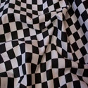 tablecloth rental miami - checker linen race car