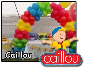 Caillou party decorations