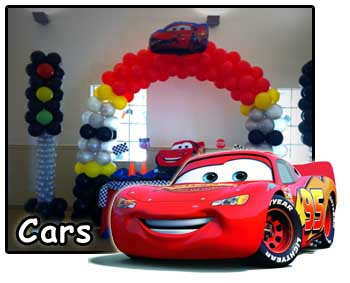 Cars McQueen Party decorations