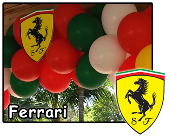 Ferrari theme party decorations balloons