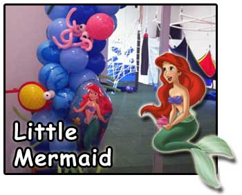 Little Mermaid kids party decorations