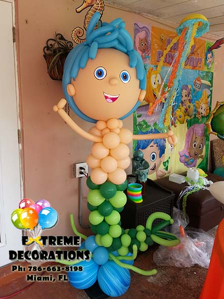 Bubble Guppies Balloon Sculpture