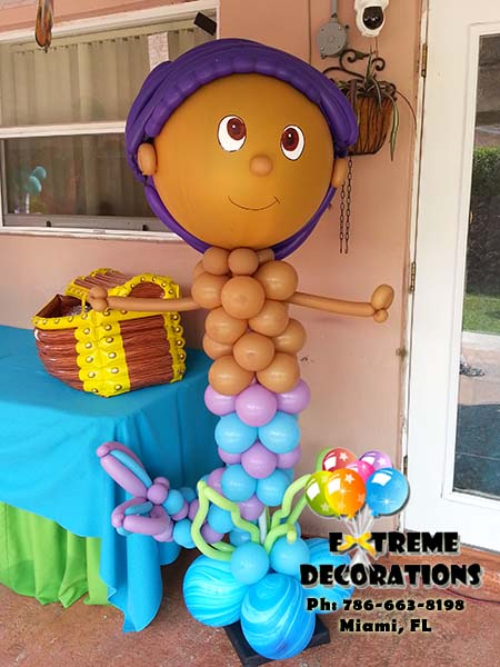 Bubble Guppies Balloon Decoration