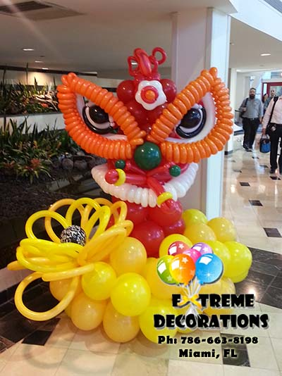 Chinesse Dragon Balloon sculpture
