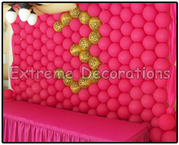 Balloon wall animal print - leopard and hot pink- age