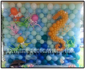 Under the Sea Balloon wall - Party decorations Miami