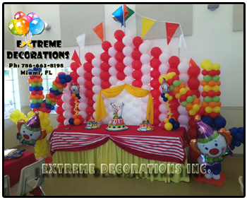 Circus theme Balloon Wall - Party Decorations Miami