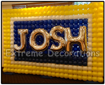 Balloon wall personalized with name