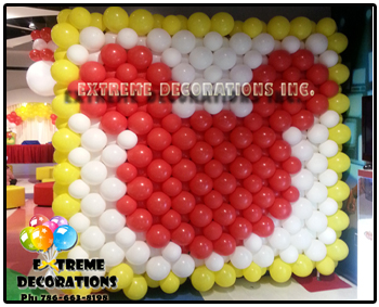 Mickey Mouse Balloon Wall - Party decorations Miami