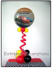 Cars McQueen balloon Centerpiece