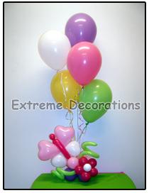 flower and butterflies balloon centerpiece