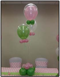 flowers and butterflies balloon centerpiece