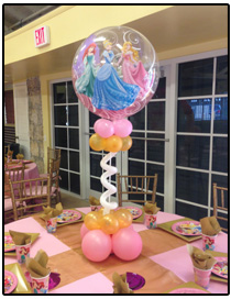 white balloon topiary centerpiece