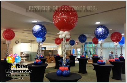 one color cloud balloon centerpiece