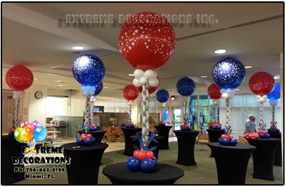3ft Marine Anchor Chain balloon centerpiece