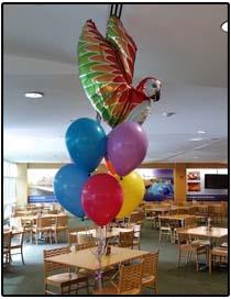 Tropical Helium balloon party centerpiece