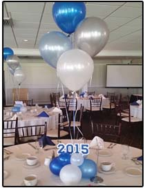 Personalized year balloon centerpiece