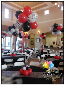 80s balloon centerpiece