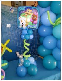 Bubble Guppies balloon centerpiece