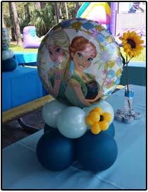 Frozen Fever balloon arrangement