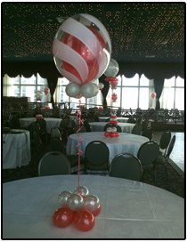 Swirl balloon centerpiece