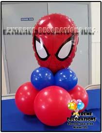 Superheroe Balloon centerpiece