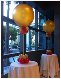 3ft Gold Balloon centerpiece