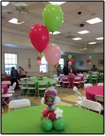 Strawberry Shortcake balloon centerpiece