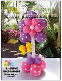 Flower Balloon party centerpiece