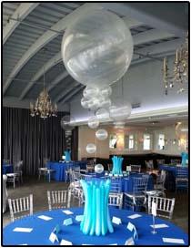 Clear Bubbles 3ft balloon centerpiece