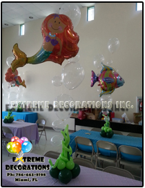 Mermaid balloon centerpiece