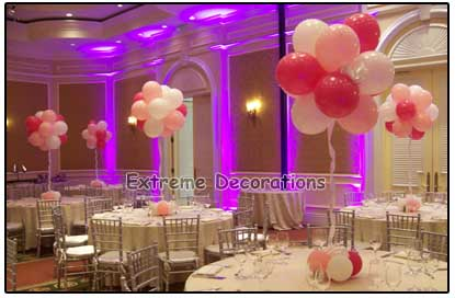 cloud balloon centerpiece - 3 colors