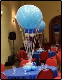 Hot air balloon with net Centerpiece